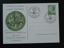 horse medieval history postal stationery card Luxembourg stamp day 1975