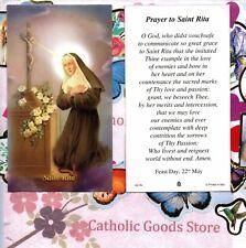 St. Rita with Prayer to Saint Rita - Paperstock Holy Card
