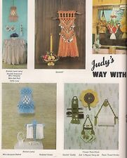 Kitchen Caddy Plant Hanger & Lamp Patterns - Craft Book: Judy's Way With Macrame