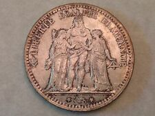 - France 1873 A silver Five 5 Francs Choice lightly toned uncirculated