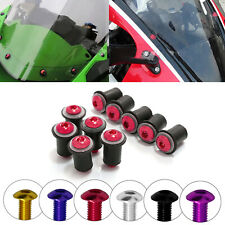 M6 Windscreen Windshield Rubber Well Nuts Washer Bolt For Yamaha YZF R1 R125