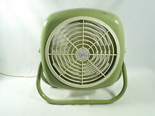Vintage Galaxy Fan Desk Table Floor Green Tested Works