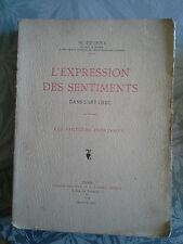 L'expression des sentiments dans l'Art grec, DEONNA, Renouard, EO 1914