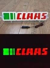 3D 12V LED Leuchtschild für CLAAS Traktor Fahrer Grün Rot Logo Schild Zubehör