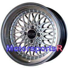 XXR 536 Chromium Black S 15 x 8 +0 Wheels Rims Deep Step Lip 4x100 84 91 BMW E30