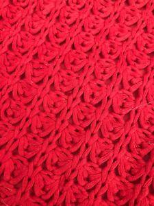 CRATE & BARREL Fujita Red Woven  (1) ZIPPERED THROW PILLOW 18 X 18