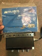52 - VINTAGE MIDLAND MODEL 13-882B CB RADIO WITH MIC & OWNERS MANUAL