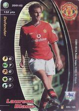 FOOTBALL CHAMPIONS 2001-02 Laurent Blanc 079/125 Manchester United F.C. FOIL