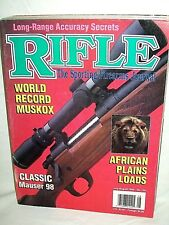 RIFLE 7/8 1994~CLASSIC MAUSER 98~BEEMAN R10 DELUXE~SAVAGE 99-CD~ECHOLS MODEL 70