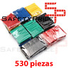 530 PCS SURTIDO TUBO TERMORETRACTIL DE COLORES AISLANTE PARA CABLES 8 MEDIDAS