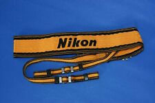 Nikon Wide Yellow  Camera Neck Strap