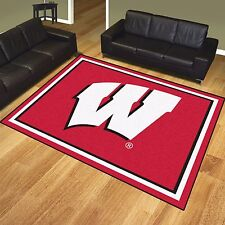 Wisconsin Badgers 8' X 10' Decorative Ultra Plush Area Rug
