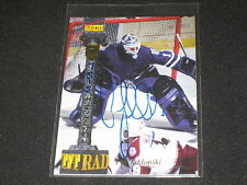 PAT JABLONSKI CERTIFIED AUTHENTIC HAND SIGNED AUTOGRAPHED HOCKEY CARD RARE /7750