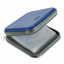 New BLUE CD DVD 40 Disc Case Wallet Holder Cover Plastic Case Protection Carry U