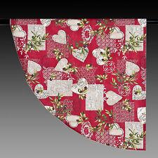 Mantel alrededor de rojo con corazones y aceitunas 180 cm Provence nuevo 100% algodón