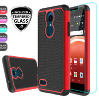 For LG K30 /Xpression Plus /Premier Pro LTE Hybrid Case Cover + Screen Protector