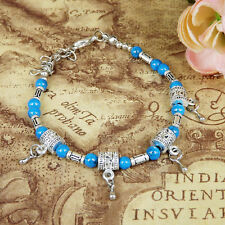 HOT Free shipping New Tibet silver multicolor jade turquoise bead bracelet S56