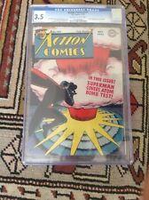ACTION COMICS # 101 CGC 3.5 DC COMICS  SUPERMAN CLASSIC ATOM BOMB COVER