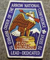 1988 NOAC Jacket Patch - Inspired To Lead - Dedicated To Serve - BSA/OA