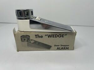 """The """"WEDGE"""" Door Stopper Alarm - SafRex SDS-16113-Tested Home Security VGC"""
