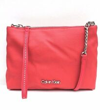CK Jeans Calvin Klein Coral Faux Leather Casual Cross Shoulder Hand Ladies Bag