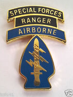 SPECIAL FORCES RANGER AIRBORNE  Military Veteran US ARMY Hat Pin 14518 HO