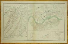 AUTHENTIC CIVIL WAR MAP~ CHICKAMAUGA  ~ KNOXVILLE ~ ATLANTA CAMPAIGNS - 1863-64