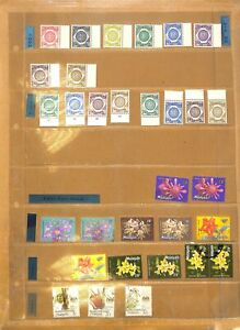 [OP7197] Malaysia/Malaya lot of stamps on 12 pages