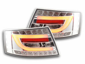 Coppia fari luci posteriori LED Audi A6 (C6/4F) anno 04-08 cromato 4053029592700
