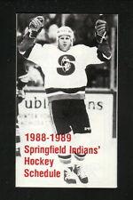 Springfield Indians--1988-89 Pocket Schedule--Sheraton Tara Hotel--AHL-Islanders