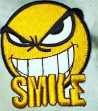 Iron On/ Sew On Embroidered Patch Badge Smiley Smiler Smile Bad Boy