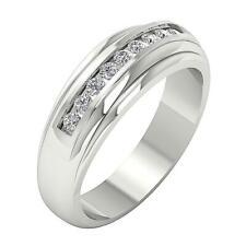 Engagement Ring Wedding I1 H 0.35Ct Natural Diamond 14Kt Solid Gold Channel Set