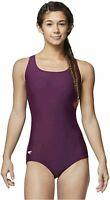 Speedo Women's Swimsuit One Piece PowerFlex Ultraback, Potent Purple, Size 8.0 G