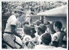 1980 Chicago Cubs Baseball Player Bill Buckner Hits Homerun  Press Photo