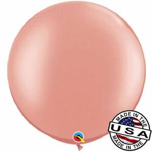 "3 ft HUGE 30"" Rose Gold QUALATEX Latex Balloon Decoration Birthday Wedding Pink"