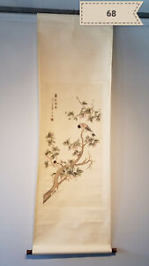Wang Li flowers and birds Antique Scroll