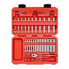 55-pc. 1/4 in. Drive Socket Set (Inch/Metric) TEKTON SKT05301