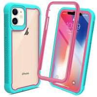 For iPhone 12 Pro Max Heavy Duty Armor Cover Shockproof Bumper Case +Belt Clip