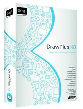 Serif DrawPlus X8 Draw Plus deutsch Box Version CD/DVD EAN 4023126117403