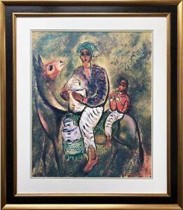 "Reuven Rubin ""The Milkman"" FRAMED Plate Signed Lithograph Judaic Israel Israeli"