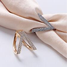 1pc Scarf Ring Inlaid Rhinestone Brooch Scarf Shawl Buckle Women Gifts UK