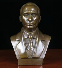Vladimir Putin Bust Bronze Statue Art Cast Sculpture Figurine Decor