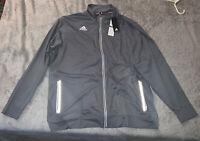 Adidas Mens 2XL Team Utility Full zipper Climalite Jacket Grey Athletic