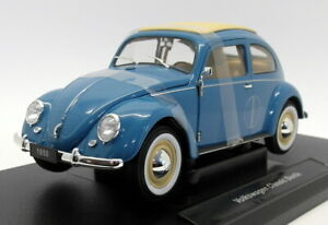 Welly 1/18 scale Diecast - 18040W Volkswagen Classic Beetle Light Blue
