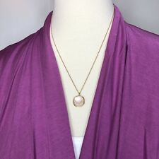 NWT Women's Jewelry Opal Pendant Necklace Matte Gold Finish Boutique