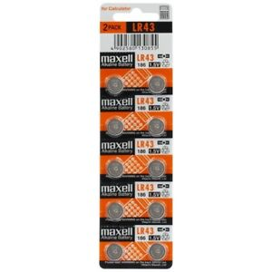 Button Batteries Alkaline 1.5V G12/LR43/AG12 Brand Maxell, Of 1 To 100 Battery
