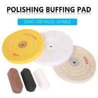 Kit roue polissage nettoyage coton 6Pcsblocs composés convient à la perceuse