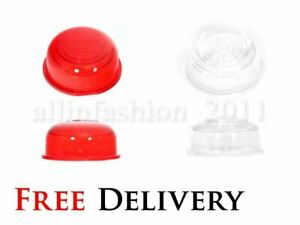 4x Lens fit Outline Trailer Marker Lights Lamps White & Red Truck Lorry E20 mark