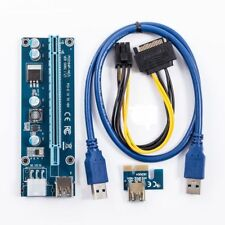 2 Pack USB 3.0 PCI-E Express 1x To 16x Extender Riser Card Adapter Power Mining