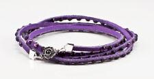 Swarovski Crystal multi wrap bracelet In Purple w/ dark purple crystals